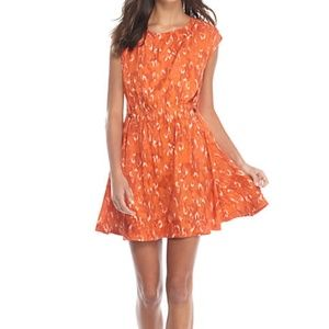New Free People Orange Fake Love Mini Dress